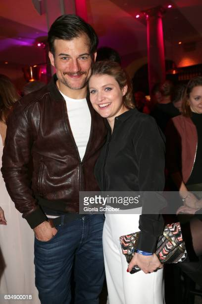 Torben Liebrecht and Lara Mandoki during the BUNTE & BMW Festival Night 2017 during the 67th Berlinale International Film Festival Berlin at...