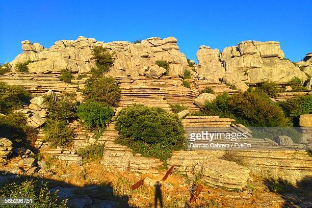 Torcal De Antequera Against Clear Blue Sky
