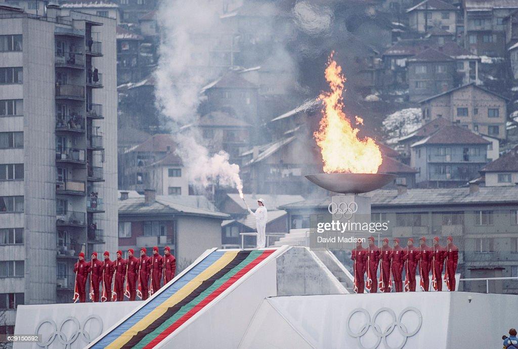 1984 Winter Olympics - Opening Ceremonies : News Photo