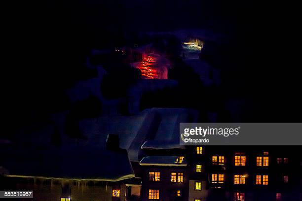 torch light parade - winter sports event stock pictures, royalty-free photos & images