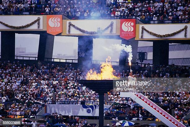 Torch Lighting at Seoul Olympics