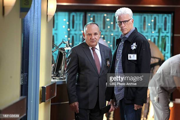 """Torch Song"""" - It's time for Captain Jim Brass and D.B. Russell to discuss their next steps in solving the case, on CSI: CRIME SCENE INVESTIGATION,..."""