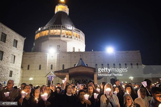 Torchlight procession in Nazareth towards the Church of the Annunciation Nazareth 17 november 2013