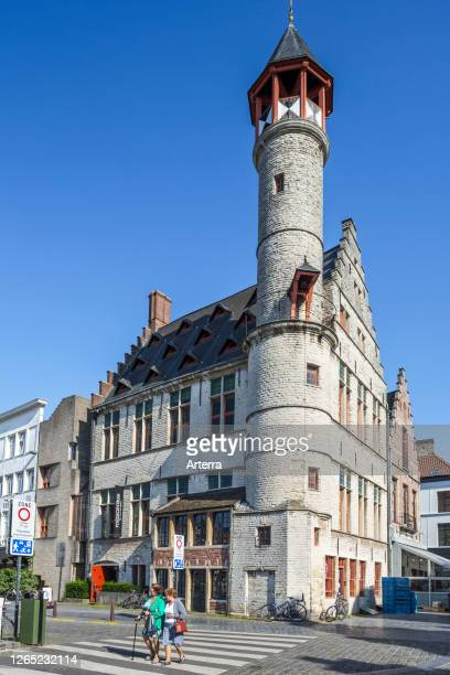 Toreken / Small Tower, 15th century guild house / guildhall on the Vrijdagmarkt / Friday Market in the city Ghent / Gent, East Flanders, Belgium.