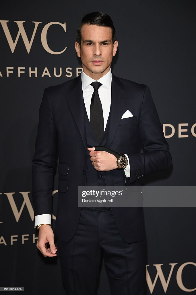 Torero Jose Mari Manzanares arrives at IWC Schaffhausen at SIHH 2017 'Decoding the Beauty of Time' Gala Dinner on January 17, 2017 in Geneva, Switzerland.