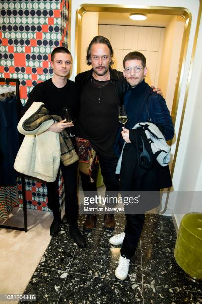 Torge Hillnhueter Lars Berger and Andreas Freitag attend the Nobi Talai Pop Up opening at KaDeWe on January 11 2019 in Berlin Germany