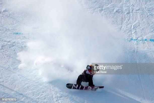Torgeir Bergrem of Norway crashes during the Snowboard Men's Slopestyle Final on day two of the PyeongChang 2018 Winter Olympic Games at Phoenix Snow...