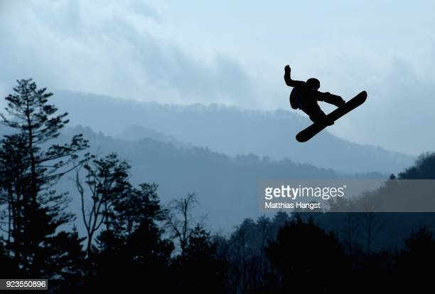 Torgeir Bergrem of Norway practices prior to the Men's Big Air Final on day 15 of the PyeongChang 2018 Winter Olympic Games at Alpensia Ski Jumping...