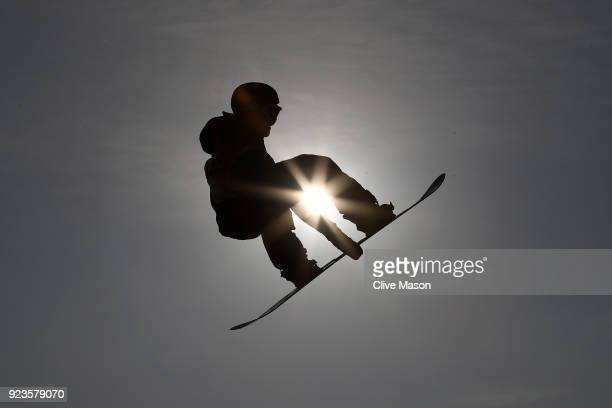 Torgeir Bergrem of Norway trains during the Men's Big Air Final on day 15 of the PyeongChang 2018 Winter Olympic Games at Alpensia Ski Jumping Centre...