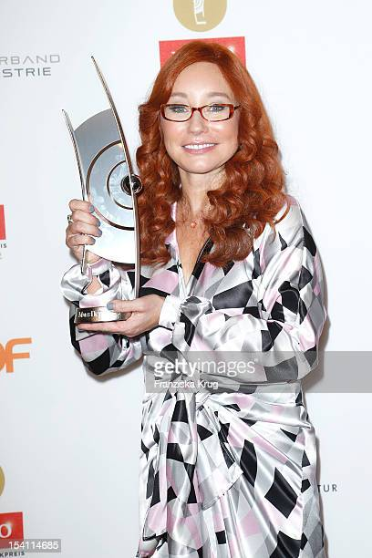 Tori Amos receives an award at the Echo Klassik 2012 award ceremony at Konzerthaus Berlin on October 14 2012 in Berlin Germany