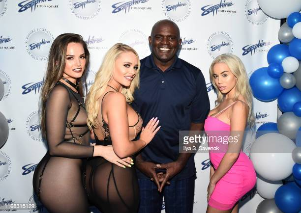 Tori Black Victoria June Lawrence Taylor and Alexis Monroe attend Sapphire Gentlemen's Club Debuts New Times Square Location on August 15 2019 in New...
