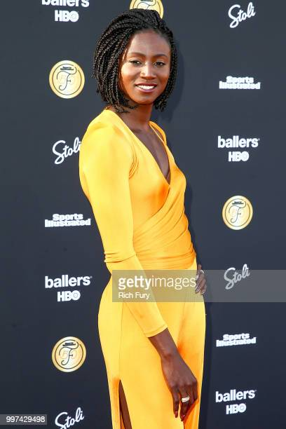 Tori Bowie attends the Sports Illustrated Fashionable 50 on July 12 2018 in West Hollywood California