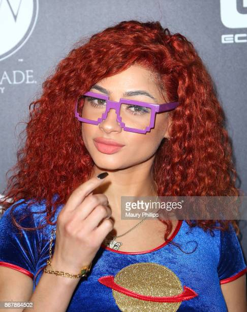 Tori Brixx arrives at A Haute Halloween at Riviera 31 at Sofitel on October 28 2017 in Los Angeles California