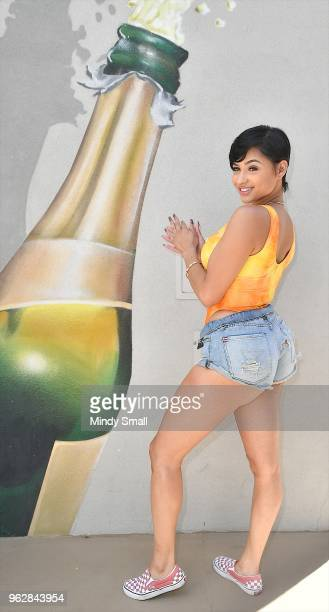 Tori Brixx arrives at the pool at The Linq Hotel Casino on May 26 2018 in Las Vegas Nevada