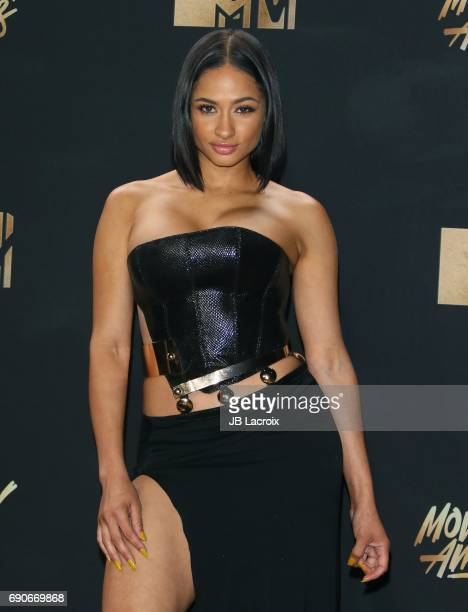 Tori Brixx poses in the press room at the 2017 MTV Movie and TV Awards at The Shrine Auditorium on May 7 2017 in Los Angeles California