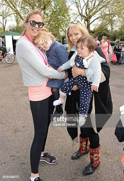 Tori Cook and Adi Cook attend the Lady Garden 5K Fun Run in aid of Silent No More Gynaecological Cancer Fund in Battersea Park on April 23 2016 in...