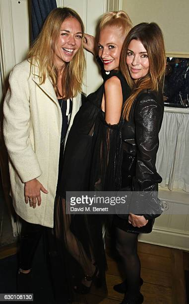 Tori Cook Poppy Delevingne and Sara Macdonald attend the LOVE Christmas Party hosted by Katie Grand and Poppy Delevingne at George on December 16...