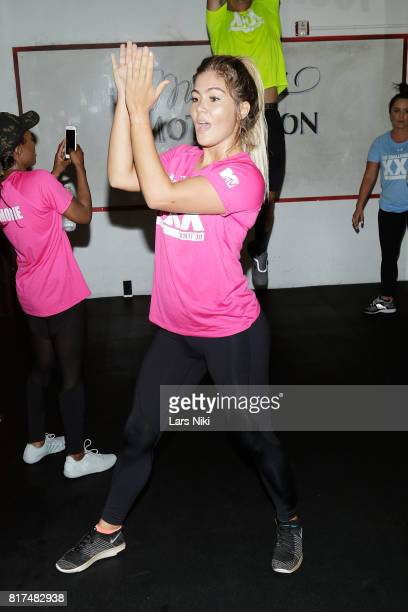 Tori Deal training during The Challenge XXX Ultimate Fan Experience at Exceed Physical Culture on July 17 2017 in New York City