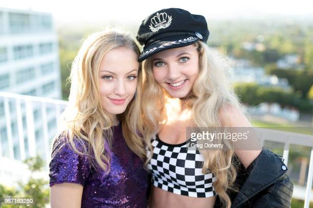 Tori Kay and Mozart Dee attends the Bianca And Chiara D'Ambrosio Celebrate Their 13th Birthday Party at The Beverly Hilton Hotel on June 3 2018 in...