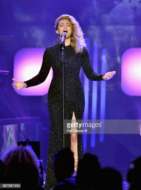 Tori Kelly performs during the 33rd annual Stellar Gospel Music Awards at the Orleans Arena on March 24 2018 in Las Vegas Nevada