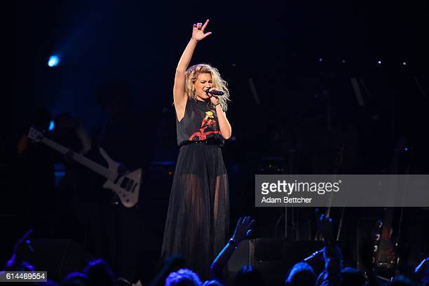 Tori Kelly performs during the 'Official Prince TributeA Celebration of Life and Music' concert at Xcel Energy Center on October 13 2016 in St Paul...
