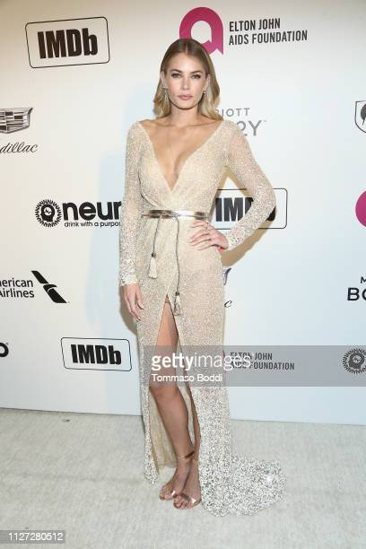 Tori Praver attends IMDb LIVE At The Elton John AIDS Foundation Academy Awards® Viewing Party on February 24 2019 in Los Angeles California