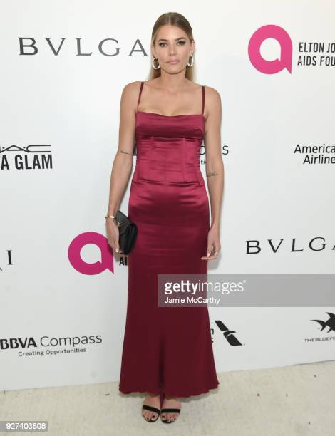 Tori Praver attends the 26th annual Elton John AIDS Foundation Academy Awards Viewing Party sponsored by Bulgari celebrating EJAF and the 90th...