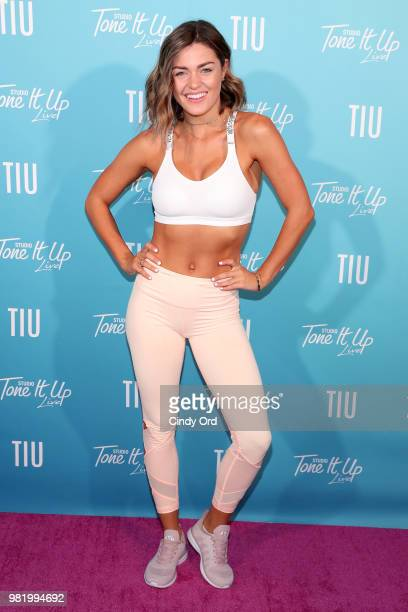 Tori Simeone attends the Studio Tone It Up Live at Duggal Greenhouse on June 23 2018 in Brooklyn New York