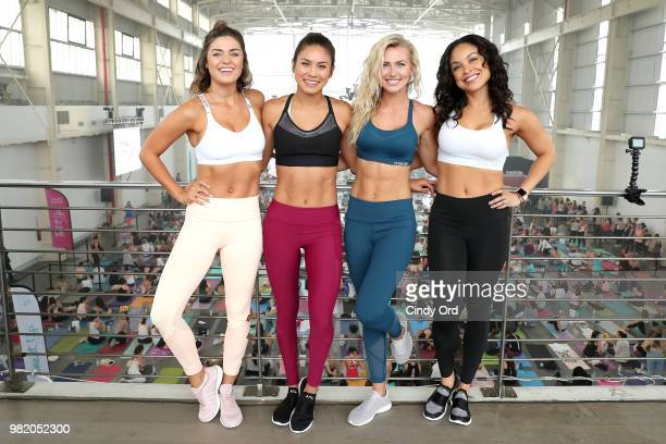 Tori Simeone Stefanie Corgel Chyna Rae and Chevy Laurent attend the Studio Tone It Up Live at Duggal Greenhouse on June 23 2018 in Brooklyn New York