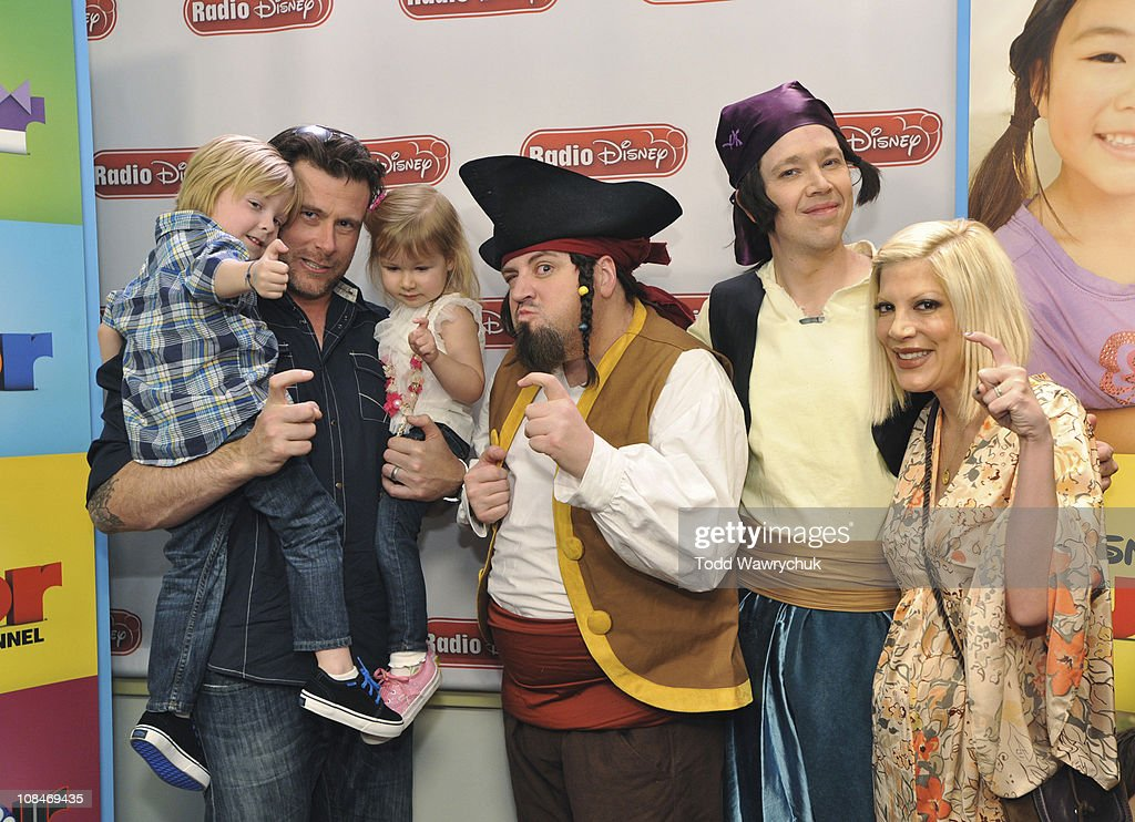 JUNIOR - Tori Spelling and Dean McDermott, along with their children Liam and Stella, rocked out with The Never Land Pirate Band from Disney Junior's upcoming animated series 'Jake and the Never Land Pirates' during an exclusive event at Radio Disney on Wednesday, January 26. 'Jake and the Never Land Pirates' premieres February 14 with the debut of the new Disney Junior block on Disney Channel. (Photo by Todd Wawrychuk/Disney XD via Getty Images)LIAM