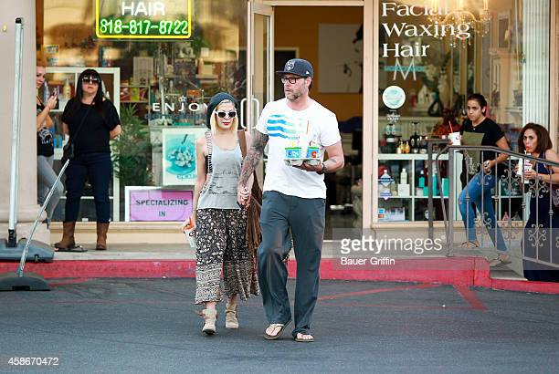 Tori Spelling and Dean McDermott are seen on November 08 2014 in Los Angeles California