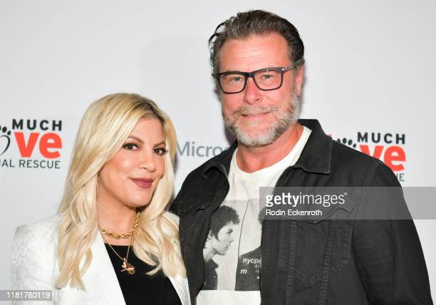 Tori Spelling and Dean McDermott attend the Much Love Animal Rescue 3rd Annual Spoken Woof Benefit at Microsoft Lounge on October 17, 2019 in Culver...