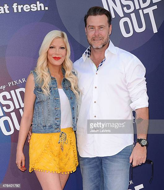 "Tori Spelling and Dean McDermott attend the premiere of ""Inside Out"" at the El Capitan Theatre on June 8, 2015 in Hollywood, California."