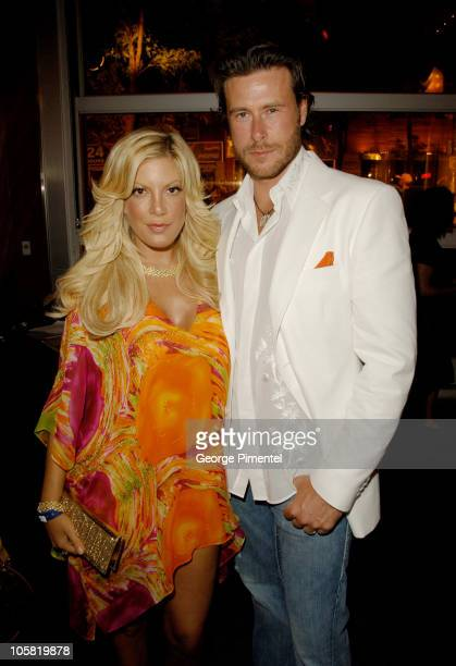 Tori Spelling and Dean McDermott during 17th Annual MuchMusic Video Awards Red Carpet at Chum/City Building in Toronto Ontario Canada