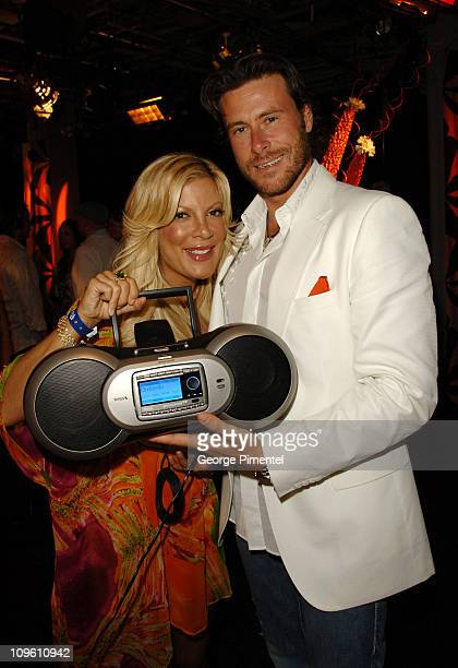 Tori Spelling and Dean McDermott during 17th Annual MuchMusic Video Awards - On 3 Productions Gift Lounge - Day 2 at MuchMusic Studios in Toronto,...