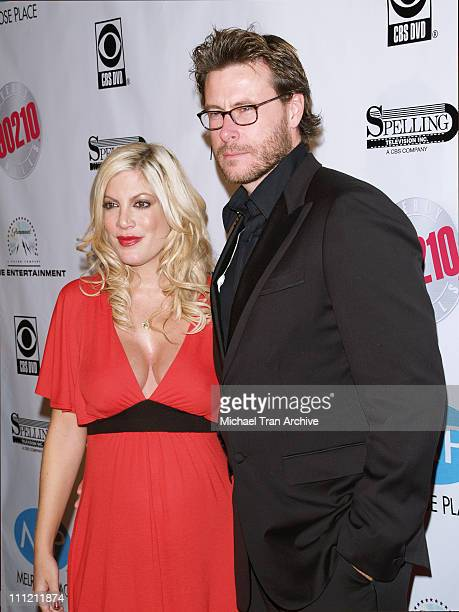 "Tori Spelling and Dean McDermott during ""Beverly Hills 90210"" and ""Melrose Place ""DVD Launch Party - Arrivals at The Beverly Hilton in Beverly Hills,..."