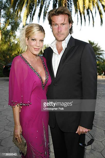 "Tori Spelling and Dean McDermott during Bow Wow Ciao Benefit For ""Much Love"" Animal Rescue - Red Carpet and Inside at John Paul DeJoria and Eloise..."
