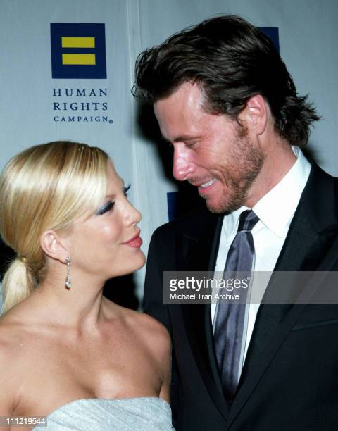Tori Spelling and Dean McDermott during Human Rights Campaign Los Angeles Gala Dinner Honoring Al Franken with Guest Speaker Al Gore - March 25, 2006...
