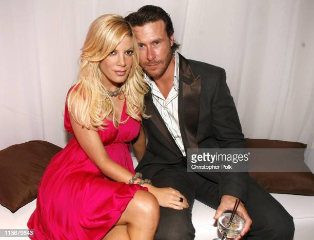 Tori Spelling and Dean McDermott during Us Weekly Hot Hollywood Awards - Inside at Republic Restaurant & Lounge in West Hollywood, California, United...