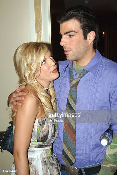 Tori Spelling and guest during 2006 TCA MTV Networks Green Room at Ritz Carlton Hotel Pavilion Room in Pasadena California United States