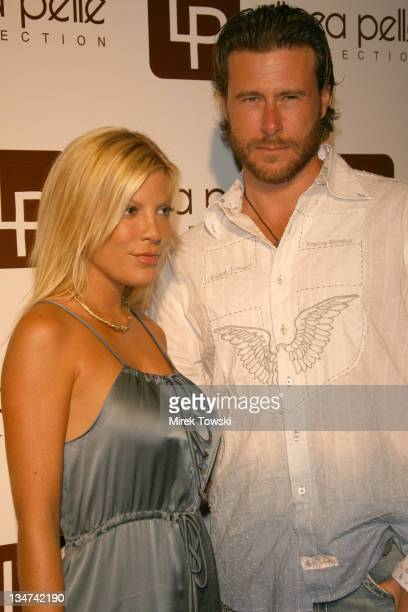 Tori Spelling and her husband Dean McDermott during Linea Pelle 20th Anniversary at Pacific Design Center in Los Angeles CA United States