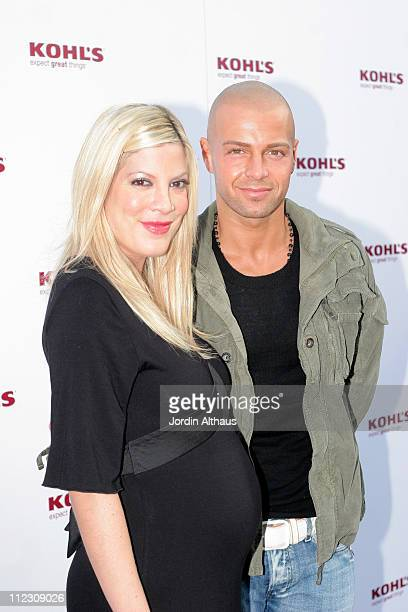 Tori Spelling and Joey Lawrence during Kohl's Winter Wonderland at Kohl's in Los Angeles California United States