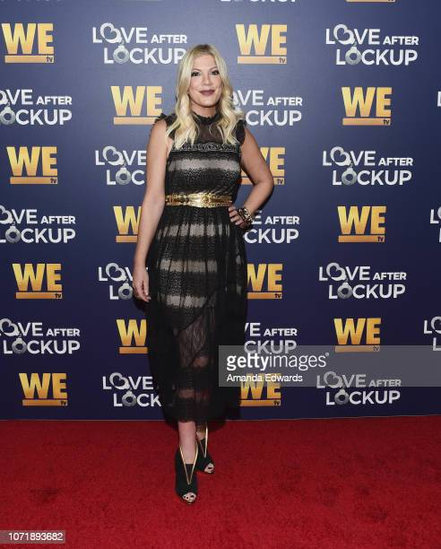 Tori Spelling arrives at WE tv's Real Love Relationship Reality TV's Past Present Future event at The Paley Center for Media on December 11 2018 in...