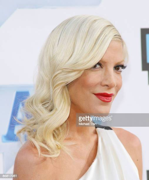 Tori Spelling arrives to Bravo's 2nd Annual AList Awards held at The Orpheum Theatre on April 5 2009 in Los Angeles California