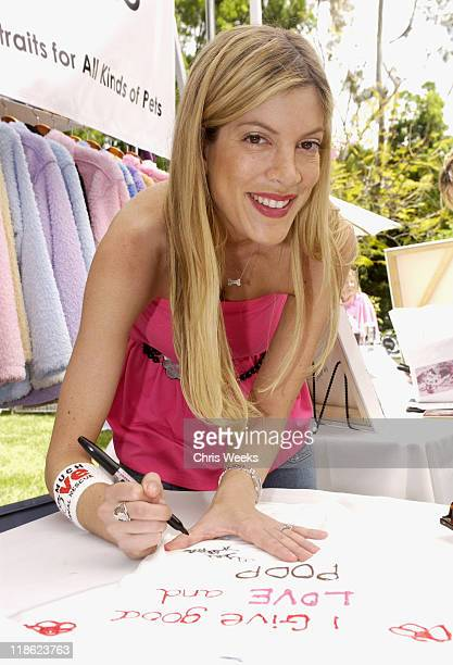 """Tori Spelling at Much Love Animal Rescue during 'Silver Spoon Dog and Baby Buffet"""" Benefitting Much Love Animal Rescue Day One at Private Residence..."""