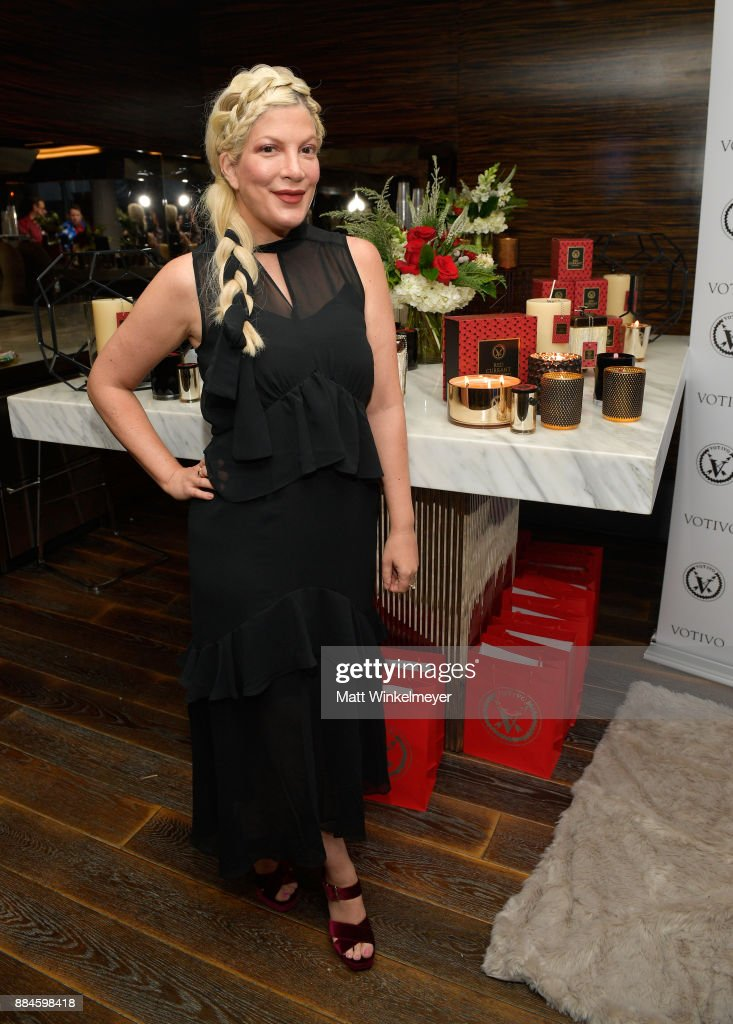 Tori Spelling at the 7th Annual Santa's Secret Workshop benefiting LA Family Housing at Andaz on December 2, 2017 in West Hollywood, California.