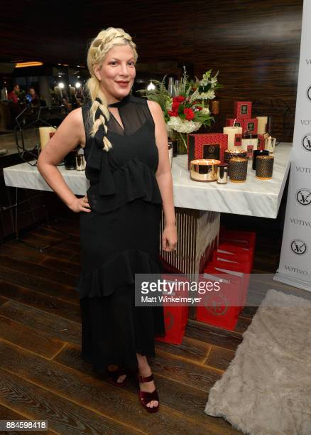 Tori Spelling at the 7th Annual Santa's Secret Workshop benefiting LA Family Housing at Andaz on December 2 2017 in West Hollywood California