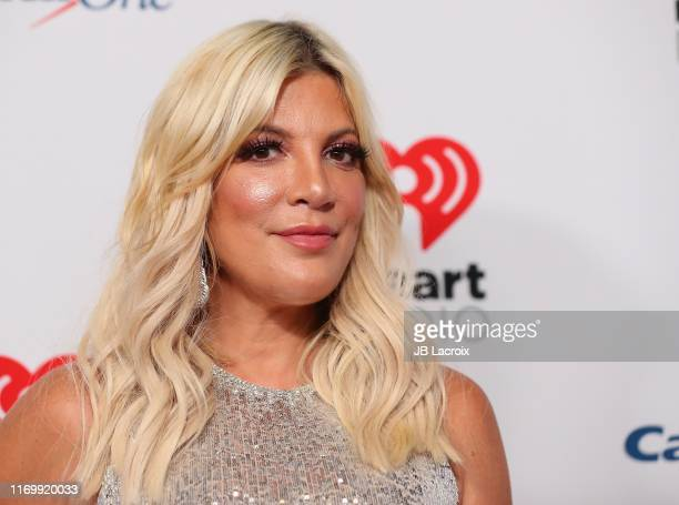 Tori Spelling attends the 2019 iHeartRadio Music Festival at T-Mobile Arena on September 20, 2019 in Las Vegas, Nevada.