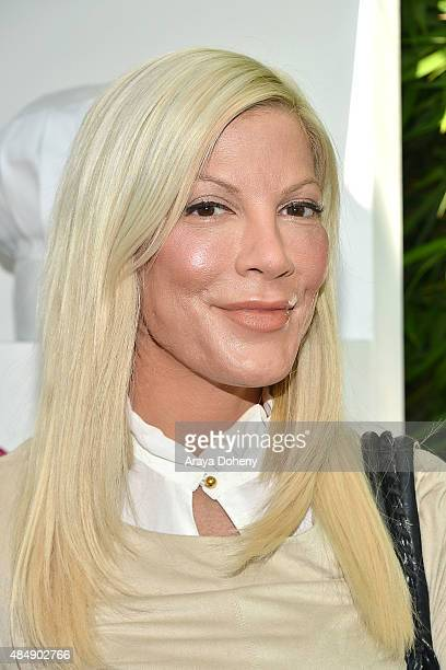 Tori Spelling attends the LG Electronics host LG 'Fam To Table' series at The Washbow on August 22 2015 in Culver City California