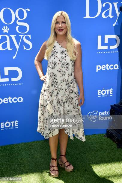 Tori Spelling attends the Premiere of LD Entertainment's 'Dog Days' at Westfield Century City on August 5 2018 in Century City California